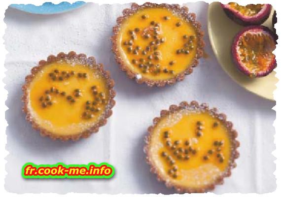 Tartelette au citron vert et grenade