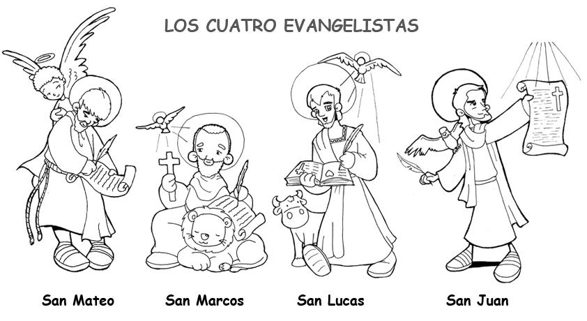 Dibujos para catequesis: LOS CUATRO EVANGELISTAS: SAN