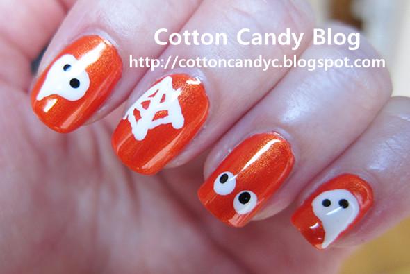 Cotton Candy Blog: Tutorial: Cute Halloween Nail Art