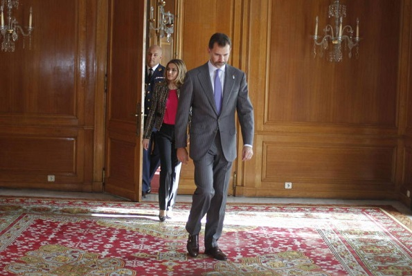 Crown Prince Felipe and Crown Princess Letizia in Oviedo for attend several meetings as part of 2012 Prince of Asturias Awards