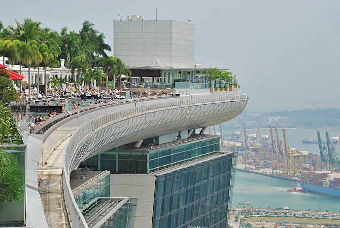 La famosa piscina panorámica del Marina Bay Sands