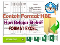 Contoh Format Analisis Hari Belajar Efektif ( HBE ) Format Excel