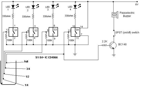 Water Sensor Circuit Schematic on