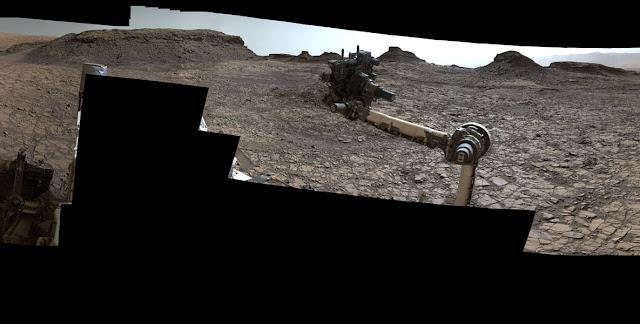 Panorama de Marte - agosto de 2016 - Curiosity - recorte