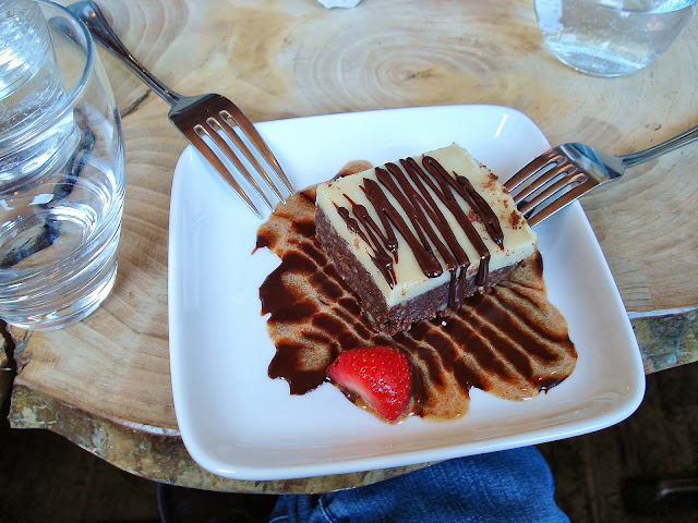 Raw Chocolate Brownie at Raw Aura Restaurant