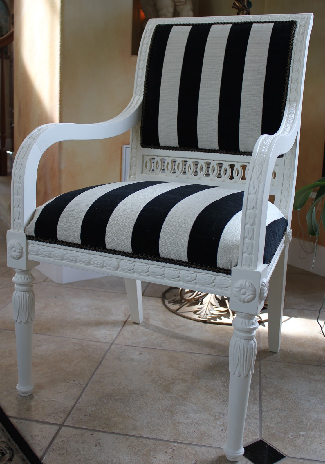 black white striped chair yoga workout horse relics in the works and stripes