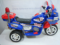 Pliko PK9098 Police Connection Battery-powered Toy Motorcyle with 2 Motor Dynamo