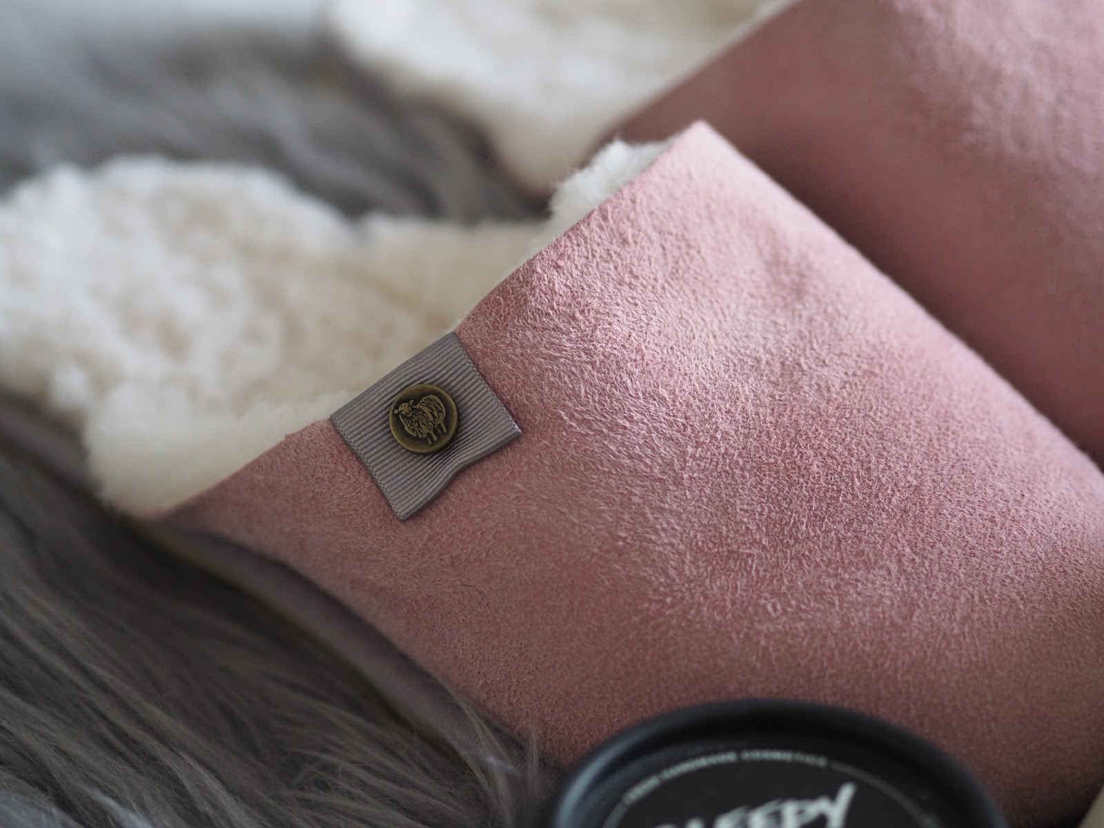 Tips to unwind, pamper and sleep better \ Celtic & Co sheepskin mule slippers \ beauty products to help you relax \ Priceless Life of Mine \ over 40 lifestyle blog