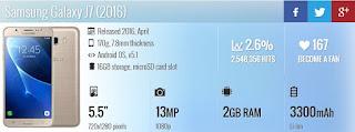 Samsung Galaxy J7 SM- International Version (Gold)