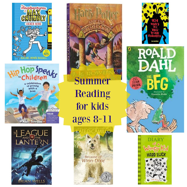 Summer reading suggestions for kids ages 8-11