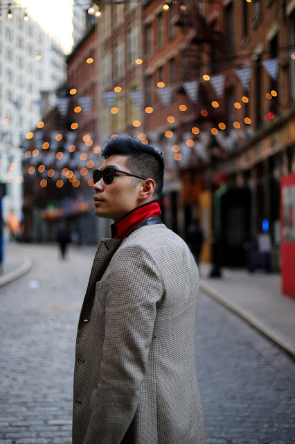 Levitate Style, menswear blogger, wearing Rag & Bone Dagger Topcoat and Striped Sweater