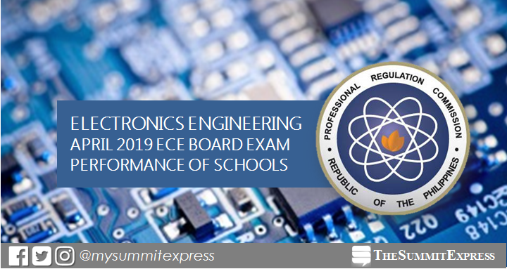April 2019 Electronics Engineer ECE board exam result: performance of schools