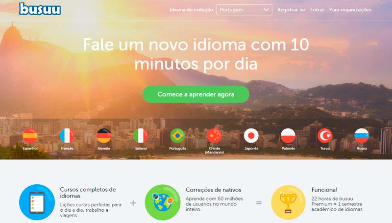 Bussu aprenda um idioma online