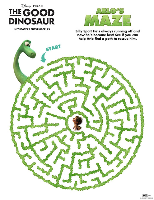 The Good Dinosaur Maze Printable