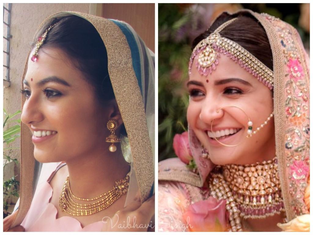anushka sharma wedding inspired makeup