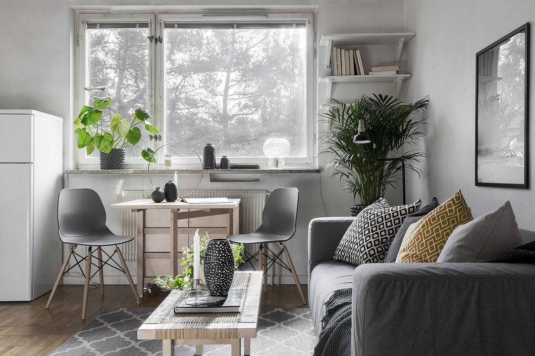 d couvrir l 39 endroit du d cor petit espace en teintes neutres. Black Bedroom Furniture Sets. Home Design Ideas
