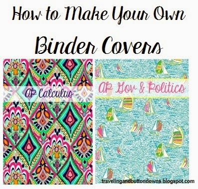 preppy nc skc Tutorial How to Make Cute Binder Covers (+ Giveaway!)