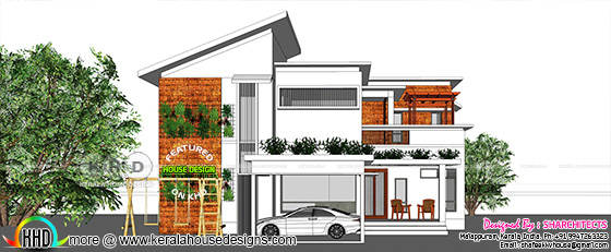 Modern contemporary home plan 2000 square feet