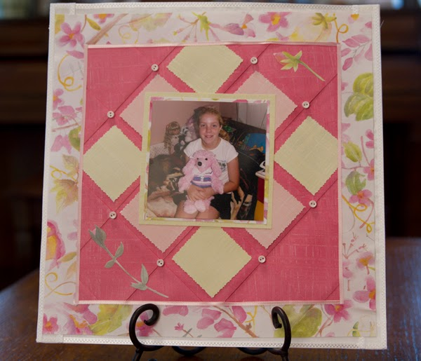 scrapbook paper folding technique