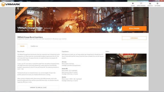 """VRMark - """"Orange Room"""" details"""