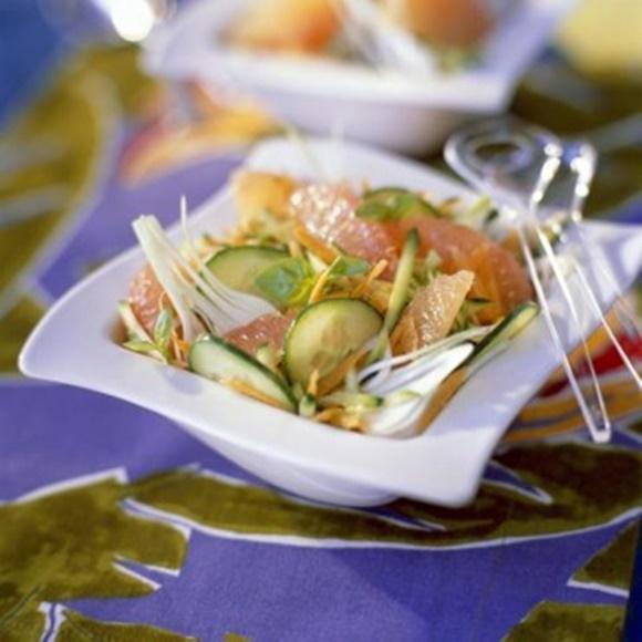 Salade Concombre Carottes Pamplemousse
