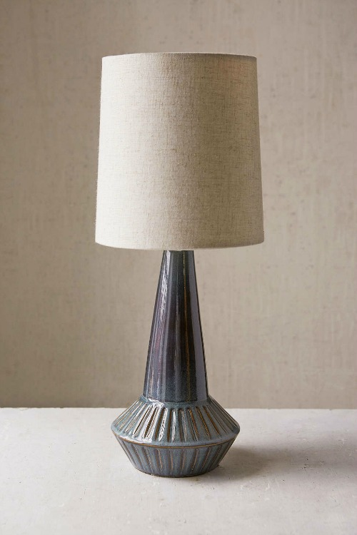 blue ceramic lamp under $250