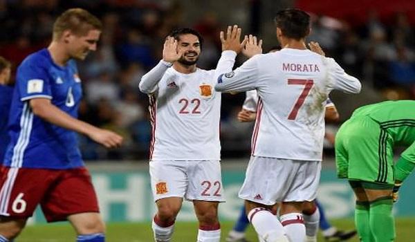 Isco dan Morata Timnas Spanyol