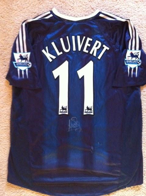 Signed Match Worn Patrick Kluivert Newcastle United Shirt  cf530d9e2
