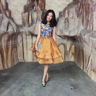 Baju Batik Modern Wanita Kombinasi