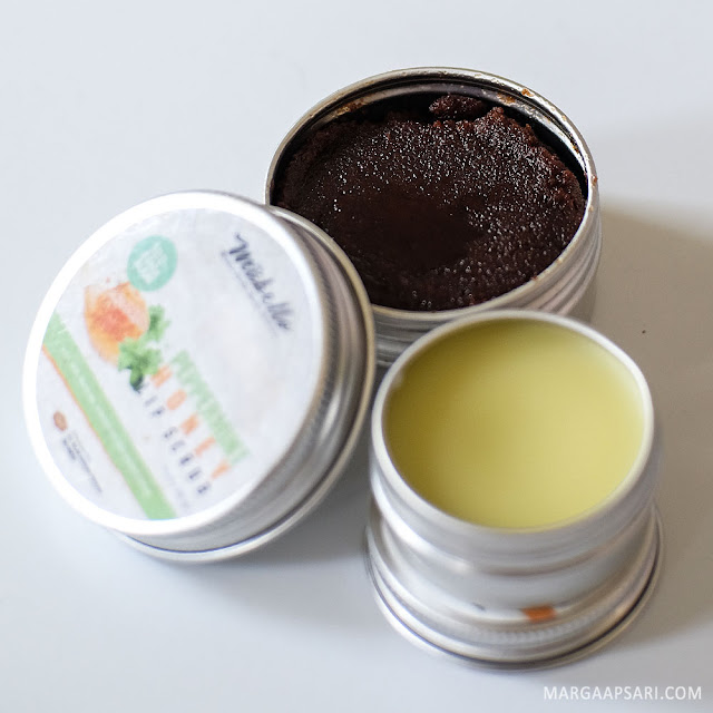 Review Peppermint Honey Lip Scrub & Lip Balm Mabello Makassar