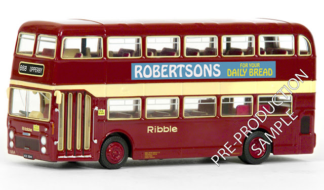 Exclusive First Editions: 38126 - Bristol VRT - Ribble Registration number NCK 984K, fleet number 1984. Works route 668 to Upperby. Scheduled for an April release RRP £34.50
