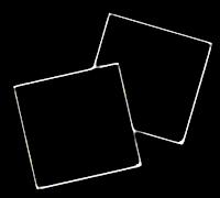 Moldura quadrada dupla