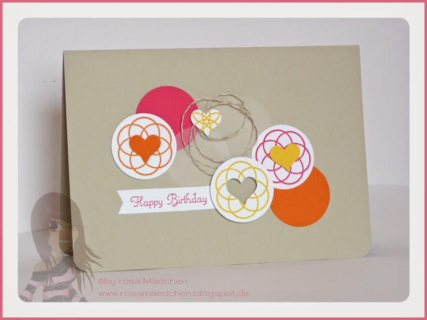Rosa Mädchen Stampin' Up! Geburtstagskarte