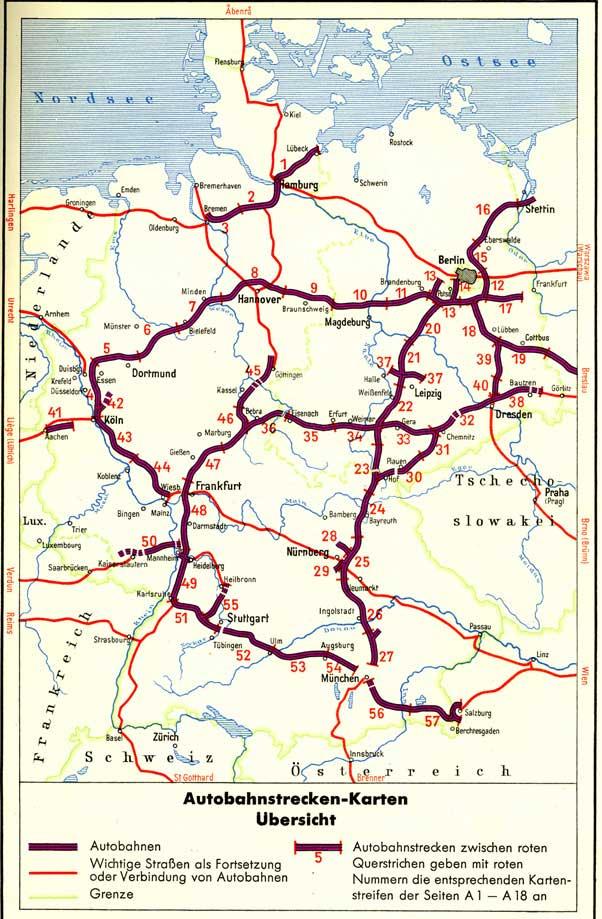 1950 Bis 1966 Autobahnen In Deutschland Historische Landkarten