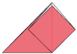 Bước 4: Gấp lớp giấy đằng sau như bước 3