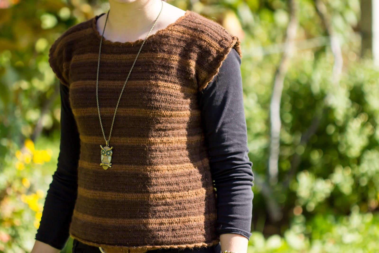 DIY - Gehäkelter Pullover mit Streifenmuster - do it yourself - Kleidung selber häkeln - gehäkelter Pullunder