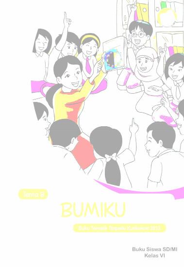 Download Buku Guru Kurikulum 2013 SD Kelas 6 Tema 8 Bumiku