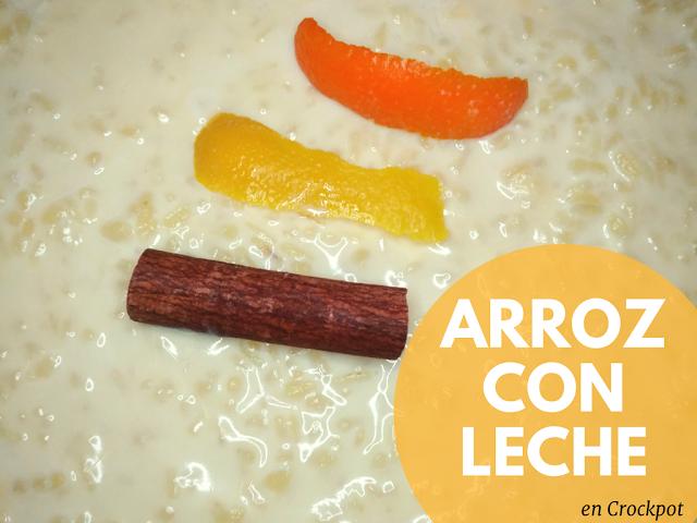 Arroz con Leche Crockpot Olla Cocción Lenta Postre Canela