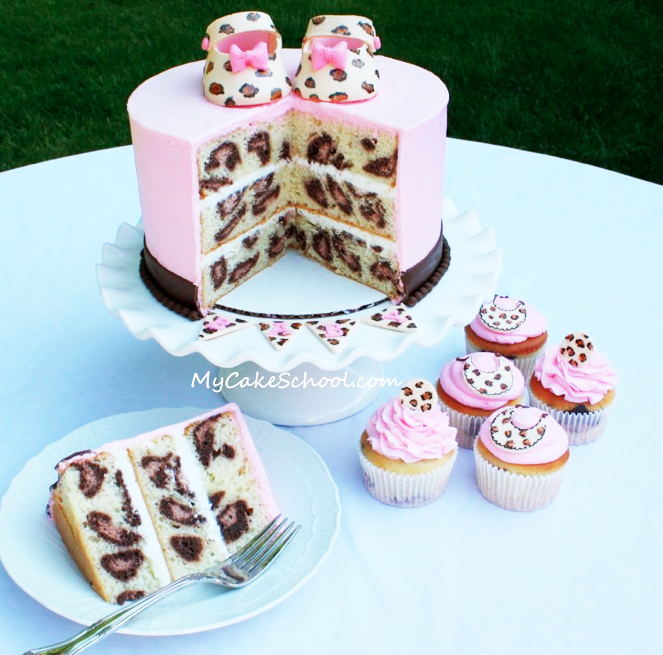 Leopard Print Cakes For Baby Shower