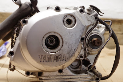 Yamaha YBR 125 blog flywheel - rotor / stator alternator generator  removal