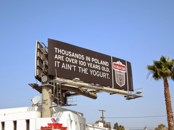 aint the yogurt Sobieski Vodka billboard