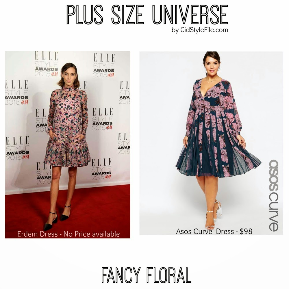 alexa chung, fancy floral, plus size universe, asos curve, elle style awards, erdem, spring style, cid style file
