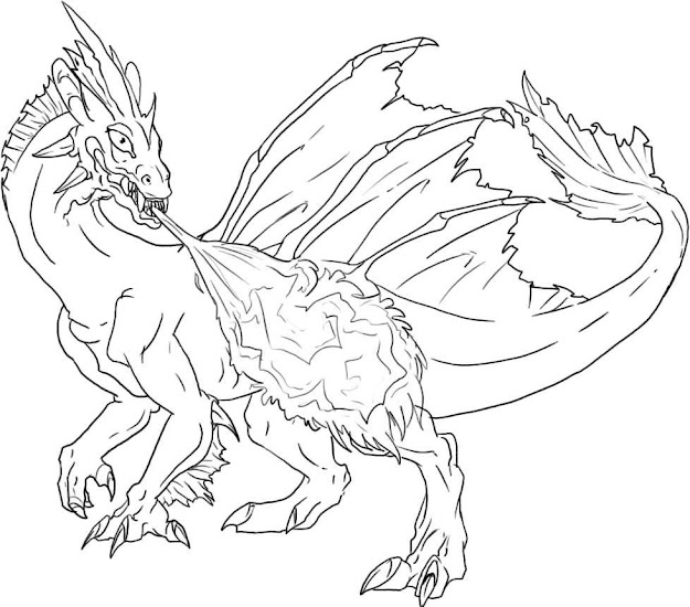 Coloring Pages Dragon