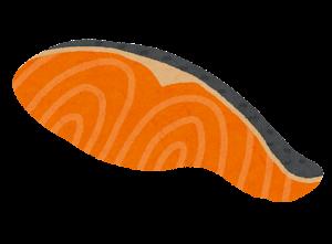 魚の切り身のイラスト(鮭)