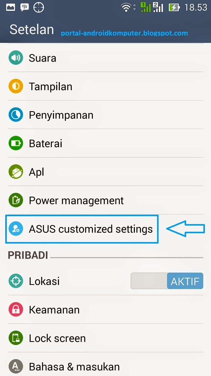 asus customized settings