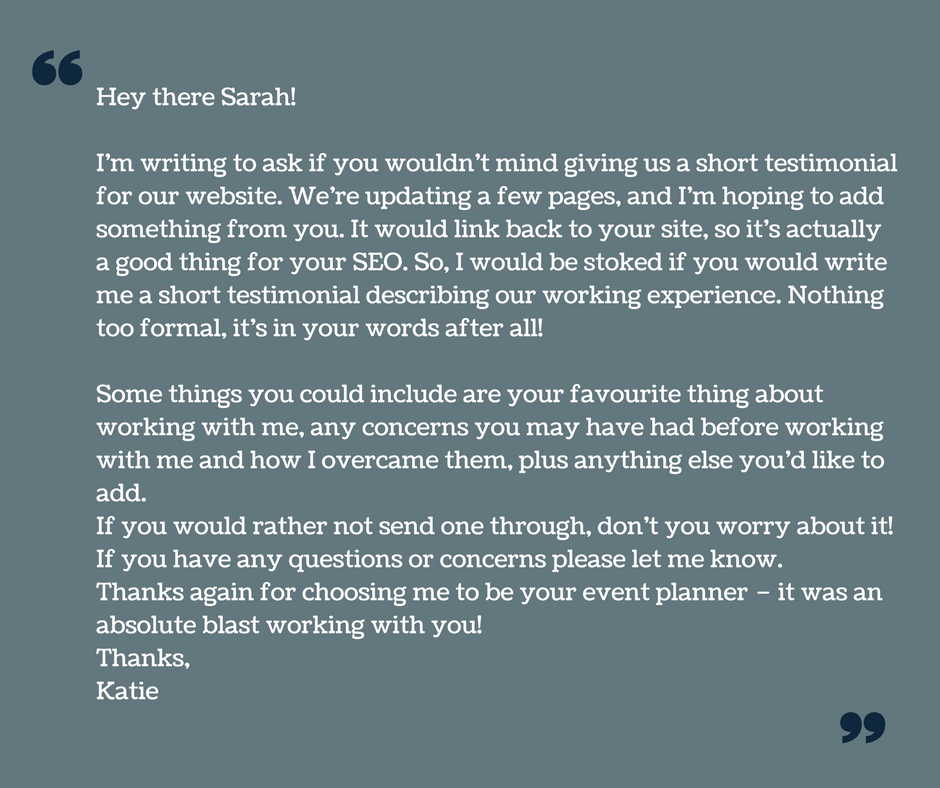 How to ask for customer testimonials