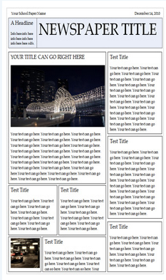 Wonderful free templates to create newspapers for your class 1 newspaper template for word download it here pronofoot35fo Images