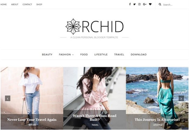 Orchid Blogger Theme