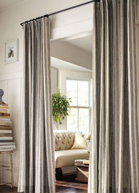 Curtain Ideas: Hanging curtains instead of closet doors