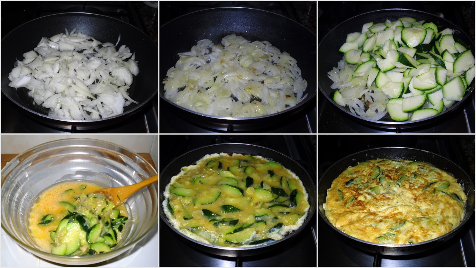 Recetas de mi madre y mias tortilla de calabacin y cebolla - Tortilla de calabacin y cebolla ...